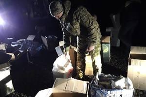 На Донбассе бойцы ООС разоблачили базу хранения контрафакта на 3 млн грн