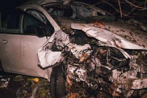 Возле кафе под Броварами Toyota сбила пешехода и тянула его 30 метров