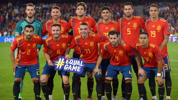 Spain for the match with England. AFP Photo