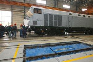"""Американские локомотивы """"Тризуб"""" для Украины покрасят в сине-серые цвета: фото"""