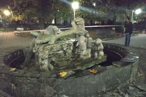 Во Львовской области в центре города подорвали фонтан