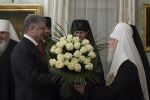 Порошенко поздравил патриарха Филарета с 23-летием интронизации