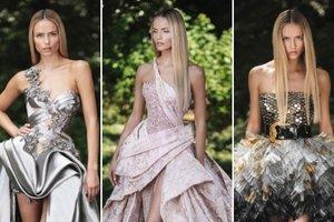 Шик, блеск и перья: вышла новая коллекция вечерних платьев Atelier Versace