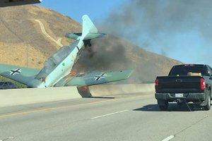 """На трассу в Калифорнии рухнул """"самолет нацистов"""""""