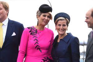 В ярко-розовом платье с вышивкой: королева Максима гуляла в Лондоне