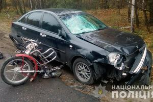 В Житомирской области легковушка насмерть сбила пенсионера на мопеде