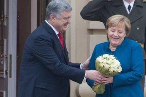 Меркель приехала в Киев: как Порошенко встречал канцлера Германии (видео)