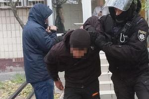 Полиция не дала установить палатки на Печерске: задержана группа мужчин