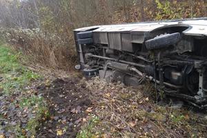 В Тернопольской области  перевернулся рейсовый автобус