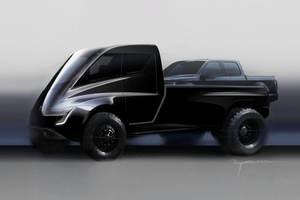 """Как в фильме """"Бегущий по лезвию"""": Маск рассказал о дизайне нового электропикапа Tesla Pickup"""