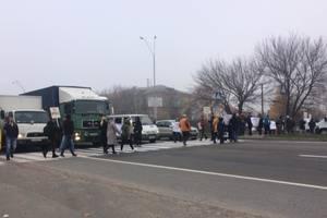 На выезде из Броваров перекрыта трасса: проходит акция протеста