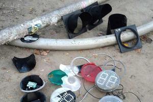 Вандалы на Воскресенке в Киеве повредили пять светофоров