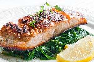 Рецепт дня: лосось в горчично-медовой глазури