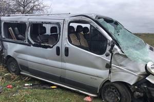 Микроавтобус с детьми попал в ДТП в Крыму