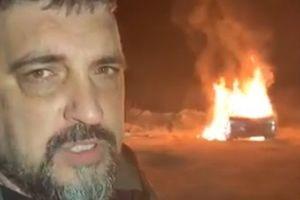 """""""Мы приграли небольшой бой"""": лидер """"АвтоЕвроСилы"""" сжег свой внедорожник в знак протеста"""