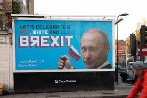 Неизвестные разместили по всему Лондону сатирические билборды с Путиным