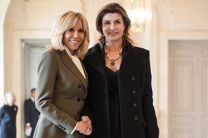 Элегантные Брижит Макрон и Марина Порошенко встретились в Париже