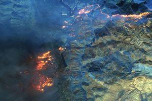 Масштабные пожары в Калифорнии сняли из космоса