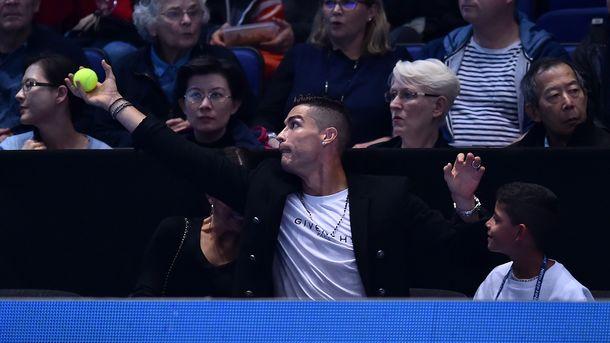 Ronaldo catches the ball. AFP Photo