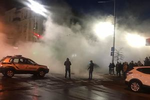 В центре Киева провалился асфальт, улицу залило кипятком