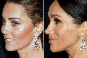В бриллиантах и с улыбками: Кейт Миддлтон и Меган Маркл ездили на юбилей принца Чарльза