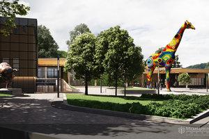 Киевский зоопарк украсят скульптурой жирафа с пятиэтажный дом