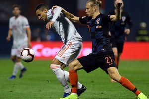 Голы защитника в суперматче принесли победу Хорватии над Испанией