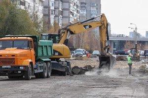 В Запорожье активно строят дорогу с выездом на Набережную
