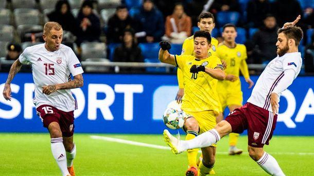 Kazakhstan - Latvia 1: 1. Photo: facebook.com/futbols