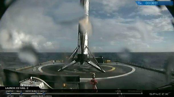 SpaceX запустила Falcon 9 скатарским спутником