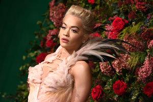 В винтажном платье с перьями: роскошный выход Риты Оры