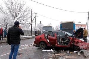 Смертельное ДТП на Прикарпатье: столкнулись две легковушки и рейсовый автобус