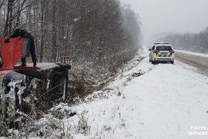 Зима на Буковине: закрытые трассы и множество ДТП