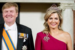 В бриллиантах и розовом вечернем платье: эффектный выход королевы Максимы