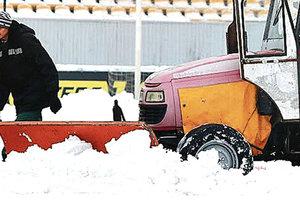 Зимой по футболу: матч чемпионата Украины на грани срыва из-за отсутствия тепла