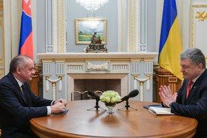 Порошенко начал встречу с президентом Словакии Киской