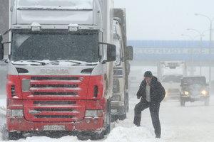 В Киеве ограничили въезд грузовиков