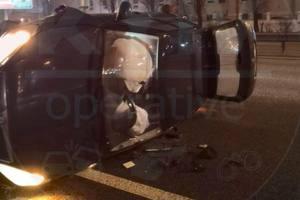 В разных районах Киеве ночью в ДТП попали двое пьяных таксистов