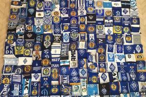 Рекорд: киевский болельщик собрал самую большую коллекцию шарфов команды