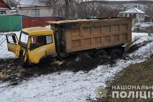 В Луганской области грузовик протаранил три легковушки