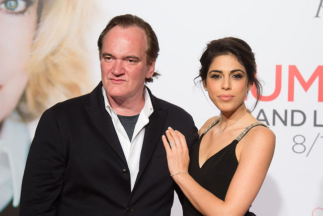 Quentin Tarantino with his wife. Photo: Getty