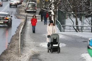 Киевляне из-за гололеда массово обращаются к травматологам