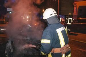 В одном районе Киева сгорели автомобили Audi и Daewoo