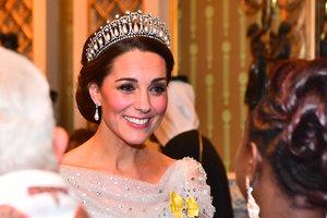 В тиаре принцессы Дианы и пышном платье: королевский образ Кейт Миддлтон