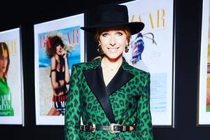 В шляпе и зеленом леопарде: модный образ Кати Осадчей
