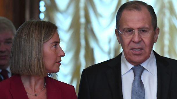 Могерини встретилась с Лавровым. Фото: AFP
