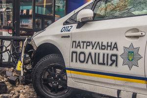 ДТП с участием патрульных в Киеве: появилось видео с места аварии