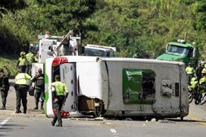 В Колумбии автобус с баскетбольной командой попал в смертельное ДТП