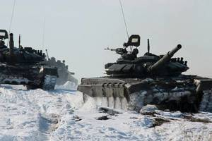 Российские танки. Фото: facebook.com/mod.mil.rus