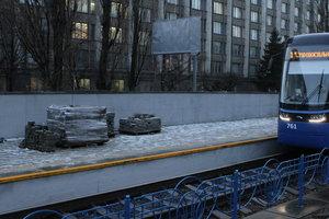 На выходных в Киеве ограничат движение скоростного трамвая на Борщаговку